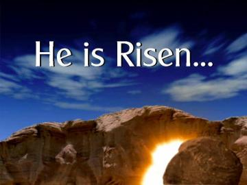 He is Risen, Light from tomb